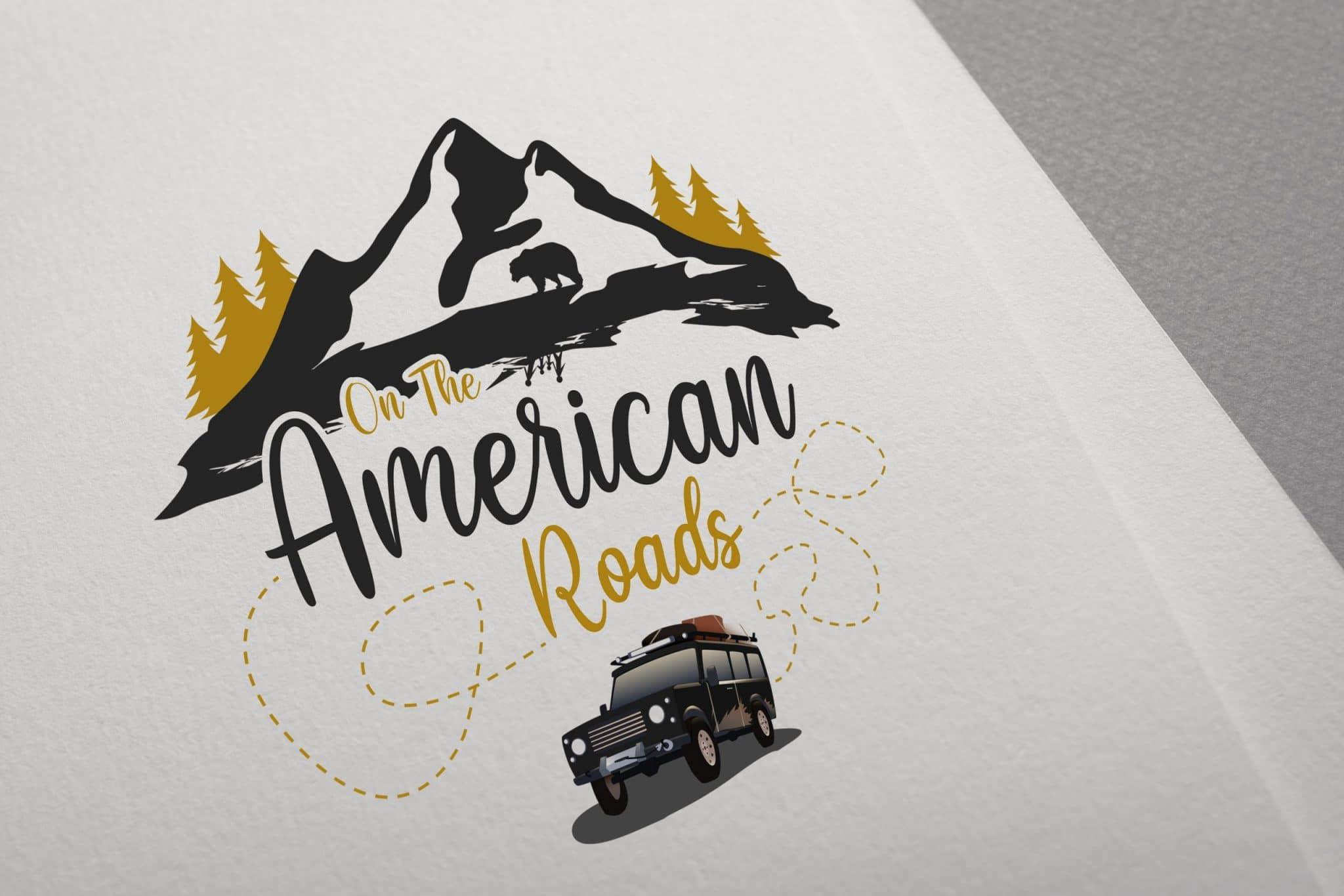 Création du logo de the American roads par Jérémy Genin, graphiste à Arles
